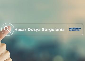 Anadolu Sigorta Hasasr Dosya Sorgulama